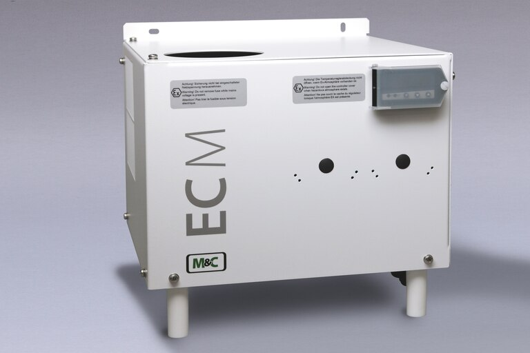 Oblique view of Compressor Gas Cooler ECM-EX2-1