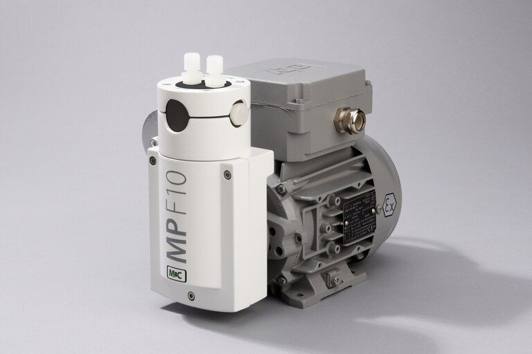 Oblique view of Bellows Pump MP-F10/EX