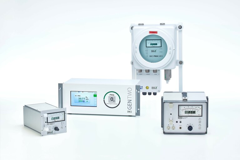Group overview of different Oxygen Analyzers